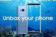 Samsung Galaxy S8 in blauw