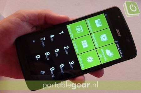 Acer Liquid E700: Quick Mode