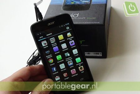 Acer Liquid Gallant: 4,3-inch capacitive touchscreen