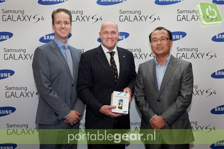 André Kuipers lanceert Samsung Galaxy S4 in Amsterdam