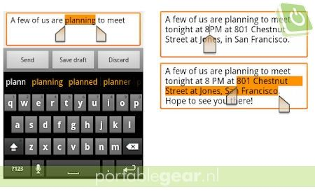 Android 2.3 Gingerbread: One-touch woordselectie en copy/paste