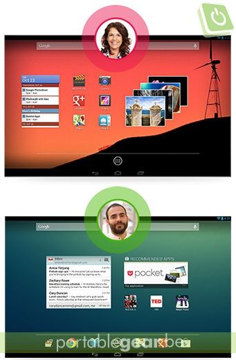 Android 4.2 Jelly Bean: multi-user support voor tablets