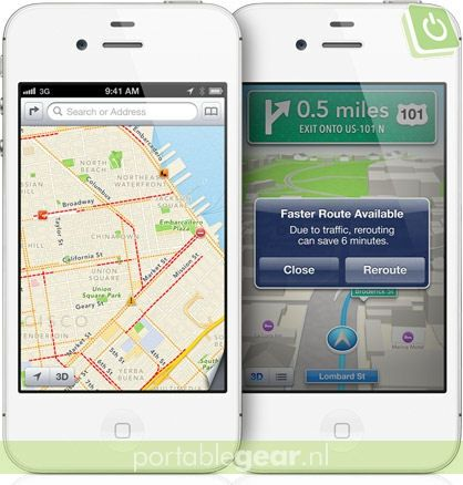 Apple Maps op iPhone 5