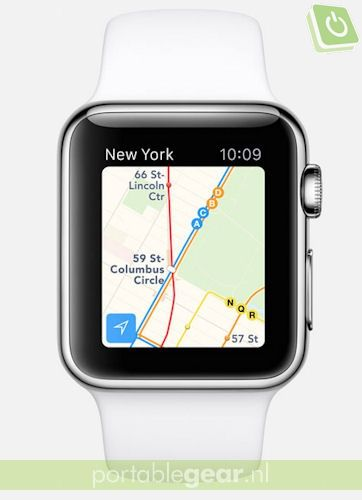 Apple Watch met watchOS 2 (Transit in Maps-functie)