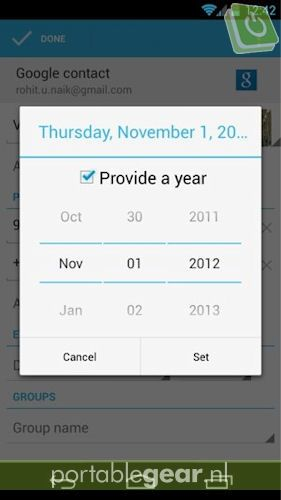 Geen december in Android 4.2