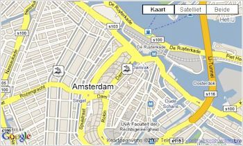 Google Maps GPS-locatiedata