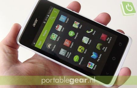Acer Liquid Z200: 4-inch WVGA-display