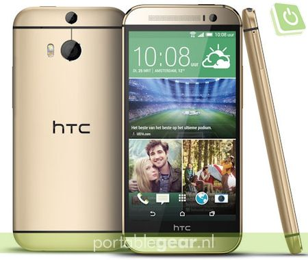 HTC One M8 Amber Gold editie