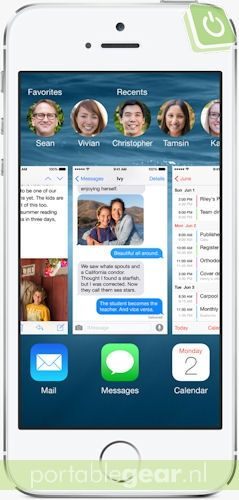 iOS 8: multitasking-interface