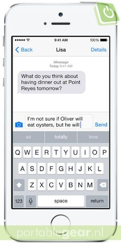 iOS 8: QuickType-toetsenbord