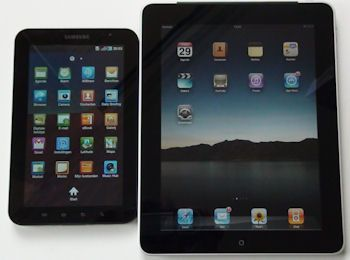 Scherm Apple iPad en Samsung Galaxy Tab