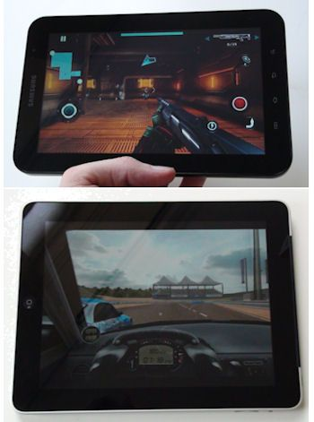 Gaming Apple iPad en Samsung Galaxy Tab