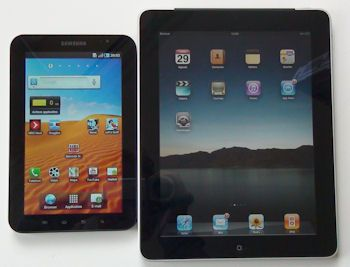 Apple iPad en Samsung Galaxy Tab