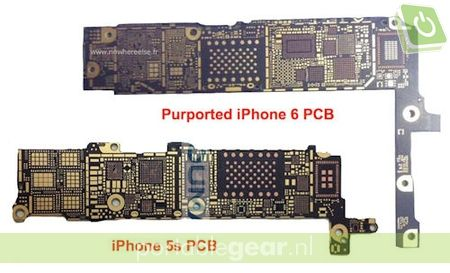 Gerucht: iPhone 6 moederbord met NFC-chip (via Nowhereelse.fr)