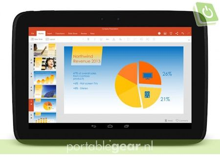 Microsoft Office-apps op Android-tablets