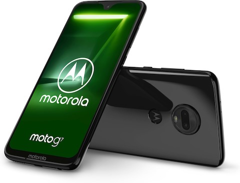 Motorola G7 met notch in druppelvorm