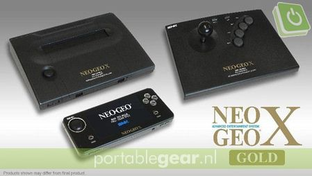 Neo Geo X Gold pakket: handheld, docking station & joystick