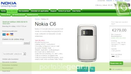 Screenshot Nokia Store
