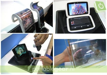 AMOLED-displays concepten (flexibel, dubbel, transparant)