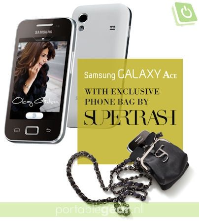 Samsung Galaxy Ace &  SuperTrash phone bag