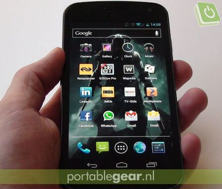 Samsung Galaxy Nexus: interface