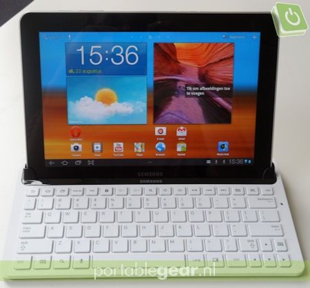 Samsung Galaxy Tab 10.1: keyboard-dock