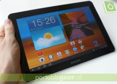 Samsung Galaxy Tab 10.1: homescreen