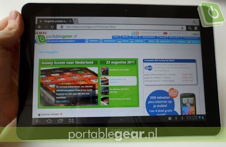 Samsung Galaxy Tab 10.1: Android-browser