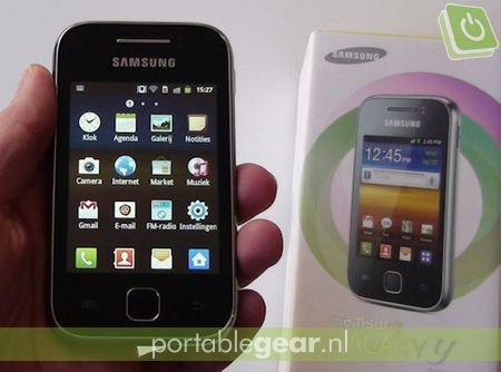 Samsung Galaxy Y (S5360): Android 2.3 met TouchWiz-interface