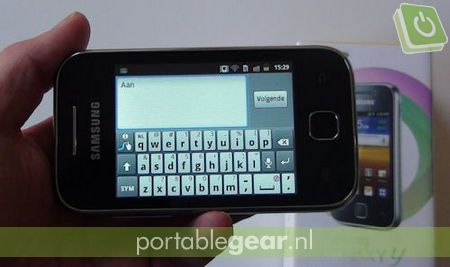 Samsung Galaxy Y (S5360): on-screen toetsenbord met Swype