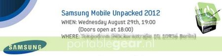 Uitnodiging Samsung Mobile Unpacked Event