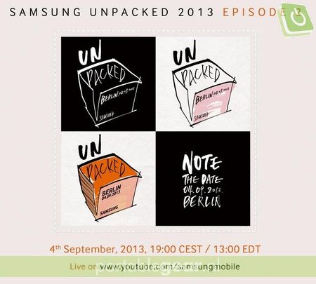 Uitnodiging Samsung Galaxy Note 3 event
