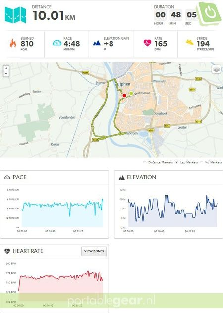 TomTom MySports - Screenshot