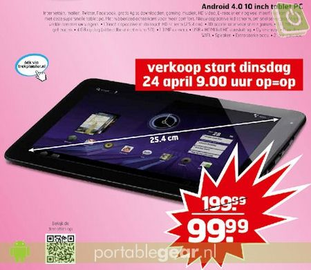 Trekpleister 10-inch Android 4.0-tablet
