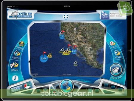 Expedition White Shark app (iPad)
