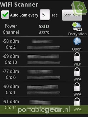 WiFi Scanner (Android-app)